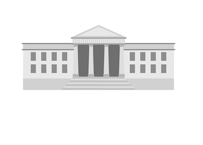 Simple drawing of the White House in Washington DC - United States of America