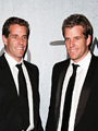 Winklevoss Twins - Cameron (left) and Tyler (right) at the grand opening of TAO Downtown at the M