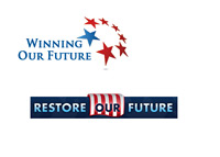 Winning Our Future logo and Restore Our Future logo