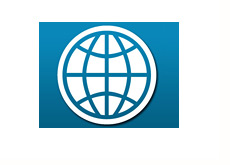-- the world bank logo - blue background --