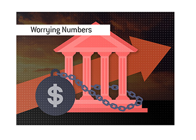 Worrying deficit and overall government debt numbers.  Does anyone care? - Illustration.