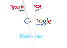 -- Yahoo Finance, Google Finance and Twitter logos being ripped --