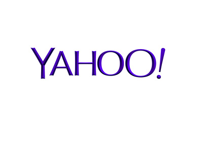Yahoo company logo - Year 2015 - Blue / purple colour